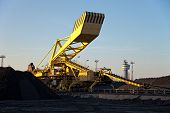 picture of wheel loader  - Bucket wheel excavator for digging the coal inside of plant - JPG