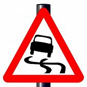 Danger Skidding Traffic Sign