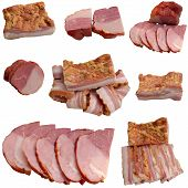 Variety Of Salami And Ham.