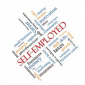 Self-employed Word Cloud Concept Angled
