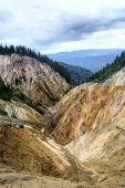 Erosional View Of Ruginoasa Pit From Apuseni Mountains, Romania