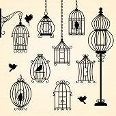 Set Of Vintage Bird Cages