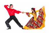 picture of gypsy  - Gypsy flamenco dancer couple - JPG