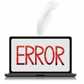 Error Message On A Laptop Screen