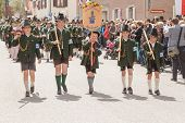 Miesbach / Germany / Bavaria - 05.May: year day of mountain troops on 04.05.2014 in Miesbach