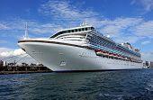 Giant Cruise Ship Docks In Taiwan