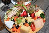European Cold cuts and cheese platter (Jausen Platte, Brotzeit Platte)