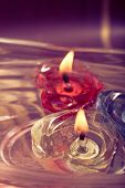 Floating Burning Candles