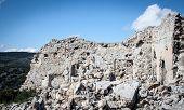 Crumbling stone building