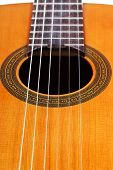 Body Of Classical Acoustic Guitar Close Up