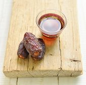 Black coffee with dates - a middle eastern popular combination