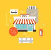stock photo of internet shop  - Online shopping and e - JPG