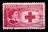 Clara Barton And American Red Cross Us Postage Stamp