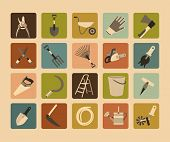 Garden Tools Flat Icon Set.eps