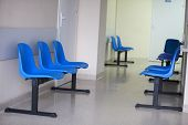Waiting Room Blue Chairs Door