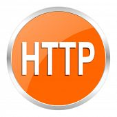 http orange glossy icon