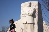 Young Girl at MLK Monument