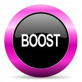 boost pink glossy icon