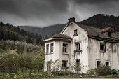 Creepy old house in the woods
