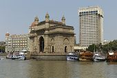 Mumbai, Maharashtra,India April 30: Gateway of India & hotel Taj