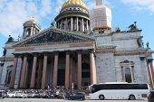 the image of Saint Isaac's Cathedral in St. Petersburg. Russia