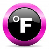 fahrenheit pink glossy icon