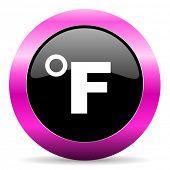 fahrenheit pink glossy icon