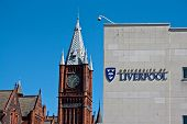 Liverpool Uk, 26 April 2014. University Of Liverpool, Founded In 1881. Liverpool Uk.