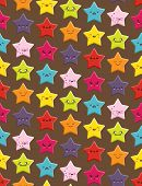 pic of kawaii  - Seamless background with a cute cartoon Kawaii stars pattern - JPG