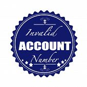 Invalid Account Number Stamp