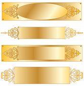 Placa de identificação de ouro de fantasia
