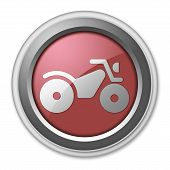 foto of four-wheelers  - Image Graphic Icon Button Pictogram with ATV symbol - JPG