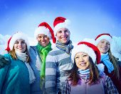 Christmas Vacation Cheerful Friends Bonding Concept