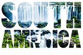 Word South America - Iguassu Falls, The Largest Series Of Waterfalls Of The World