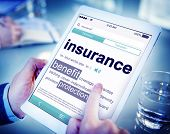Digital Dictionary Insurance Benefits Protection Concept