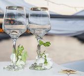 Pair Of Ornate Wine Glasses