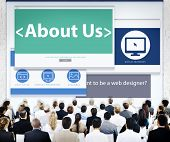 Business People About Us Web Design Concept