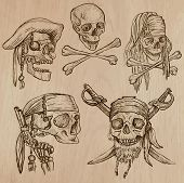 stock photo of dread head  - Pirates and Buccaneers theme  - JPG