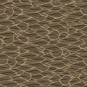 Abstract hand-drawn seamless pattern retro colors.