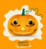 Happy Halloween design background with Halloween pumpkin. Vector illustration.