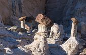 image of hoodoo  - Wahweap Hoodoos in the Morning Light - JPG