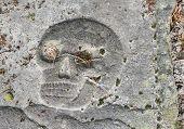Skull On A Gravestone
