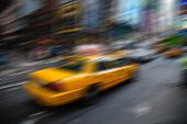 Motion blurred New York City background concept