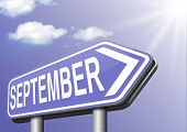september end of summer and begin fall or autumn month event agenda