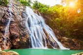 stock photo of na  - Na Muang 1 waterfall - JPG