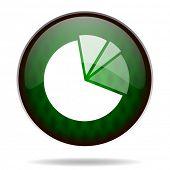 diagram green internet icon