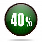 40 percent green internet icon
