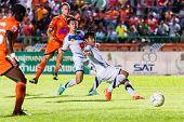 Sisaket Thailand-october 22: Brent Mcgrath Of Sisaket Fc. Shooting Ball During Thai Premier League B