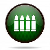ammunition green internet icon