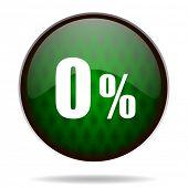 0 percent green internet icon